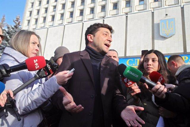 El actor cómico ucraniano Vladimir Zelenski, candidato a las presidenciales de U