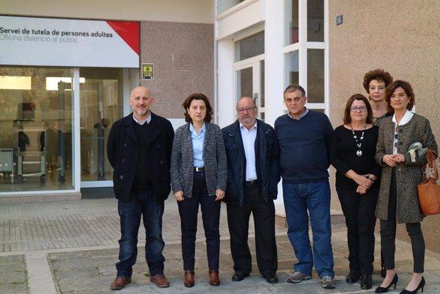 La consellera de Servicios Sociales y Cooperación, Fina Santiago, en la presenta