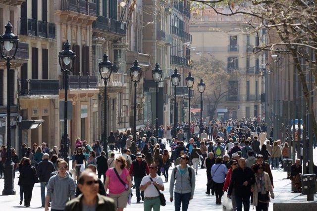 Portal de l'ngel, Barcelona, comercio, tiendas, turistas