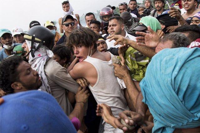 Enfrentamientos en la frontera entre Colombia y Venezuela