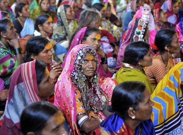 Manifestación de indígenas en el este de India