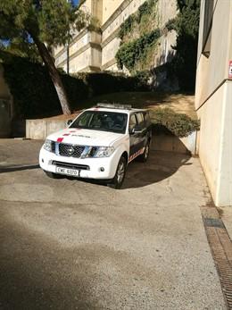 Imagen de archivo de un coche de Mossos d'Esquadra en los juzgados de Lleida