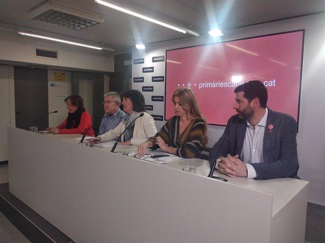 Cristina Pena, Josep Manel Ximenis, Elisenda Paluzie, Anna Arqué y Jordi Pou