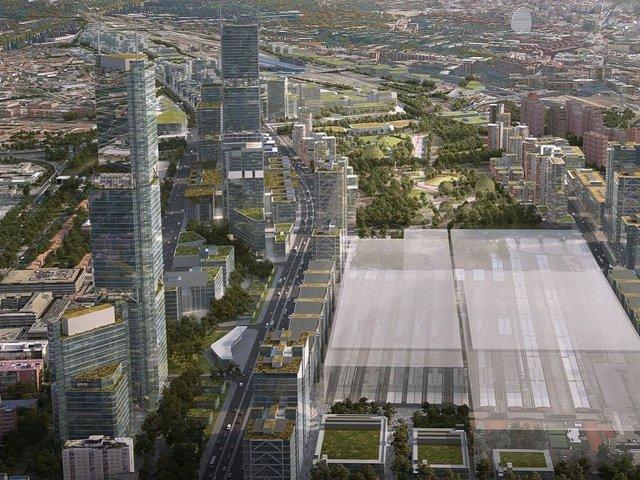 Recreación del proyecto urbanístico Madrid Nuevo Norte