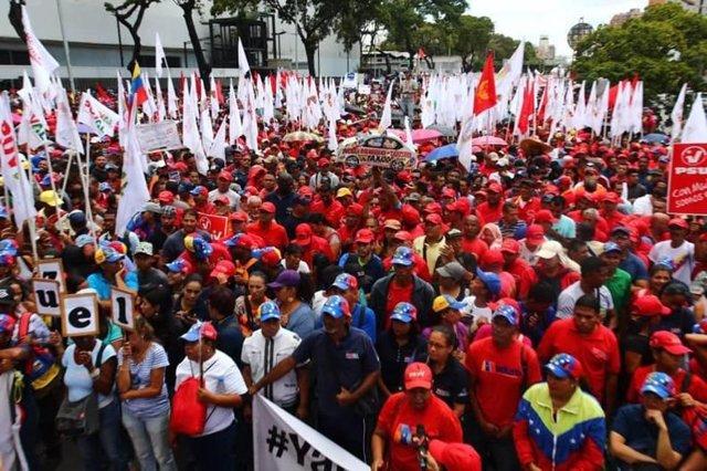 Manifestación en Caracas en apoyo a Nicolás Maduro