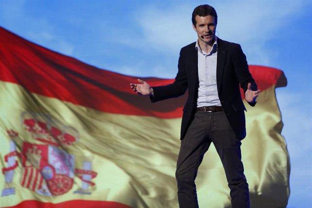 Pablo Casado, y  Juanma Moreno presentan a Sebastián Pérez como candidato a la A