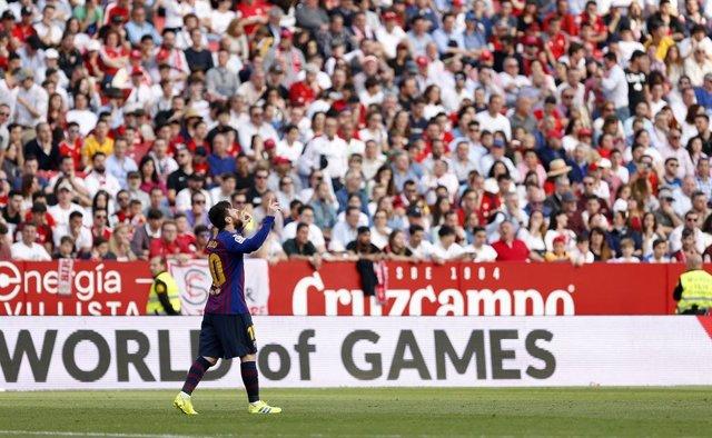 Spain Primera Division - Sevilla FC Vs FC Barcelona