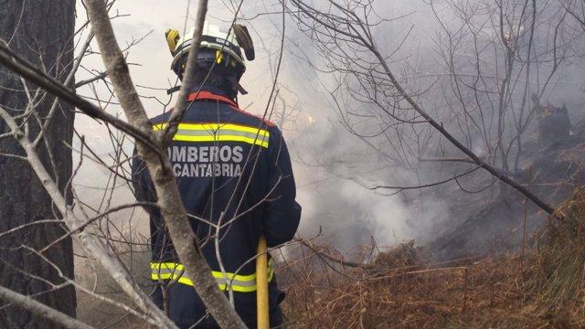 Incendios foretales en Cantabria