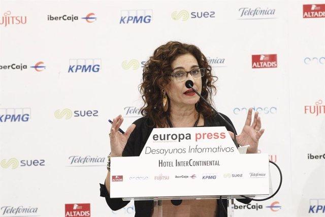 Esmorzar Informatiu d'Europa Press amb María Jesús Montero