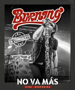 Burning incluye Barakaldo (Bizkaia) en su gira de despedida, con un concierto el