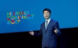 Guo Ping, CEO rotatorio de Huawei, en el Huawei Connect