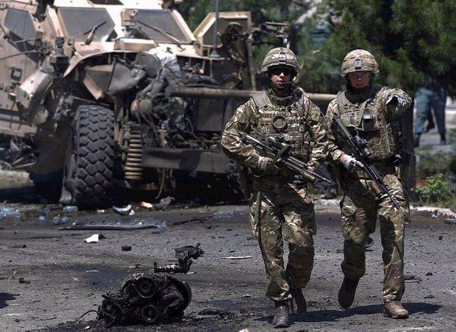 Militares estadounidenses en Kabul