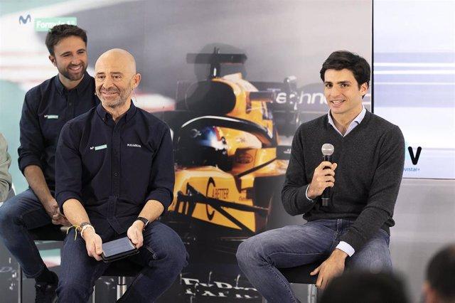Antonio Lobato y Carlos Sainz