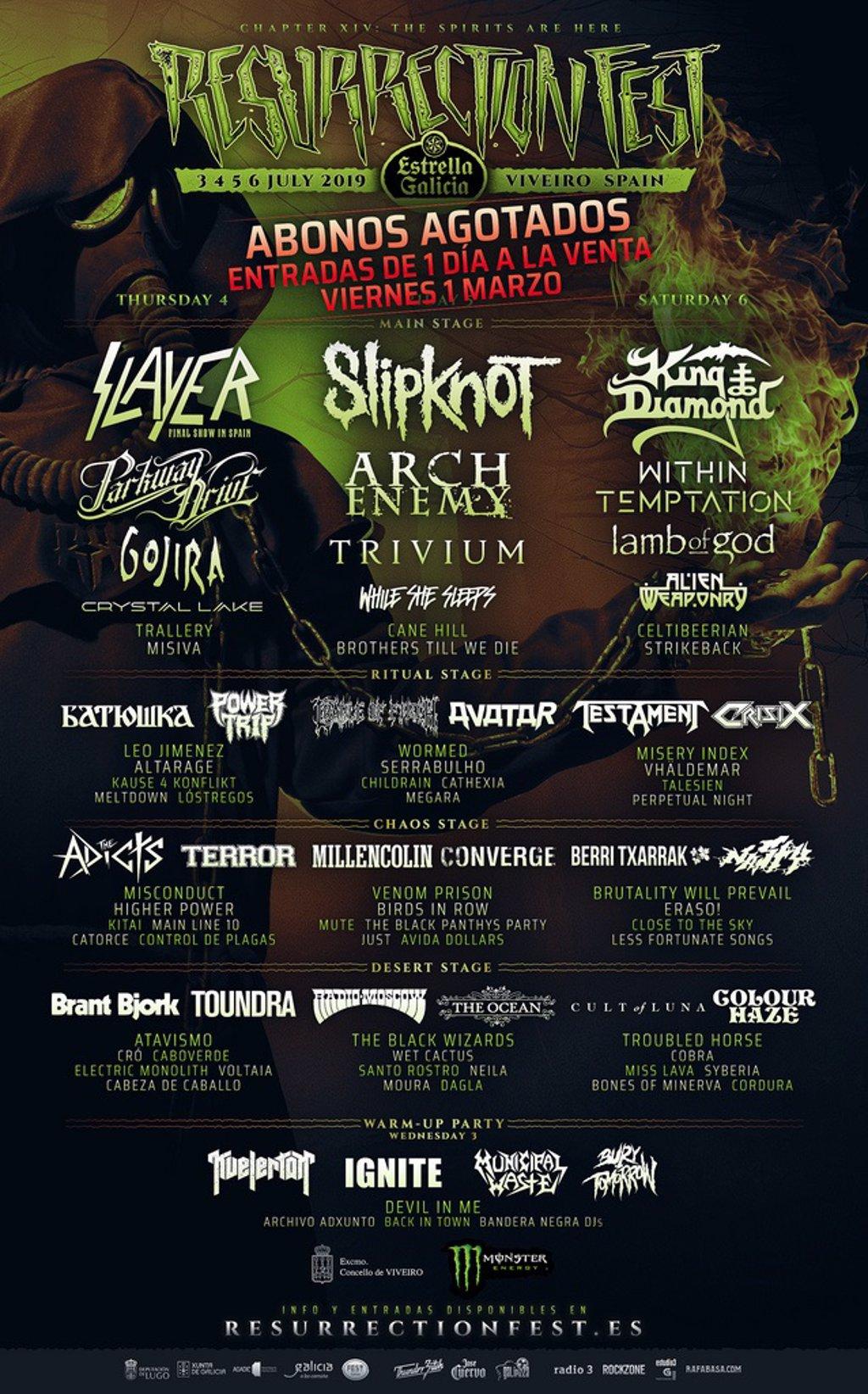 Resurrection Fest Estrella Galicia 2022. (29 - 3 Julio) Avenged Sevenfold, KoRn, Deftones, Sabaton y Bourbon! - Página 2 Fotonoticia_20190226123958_1024