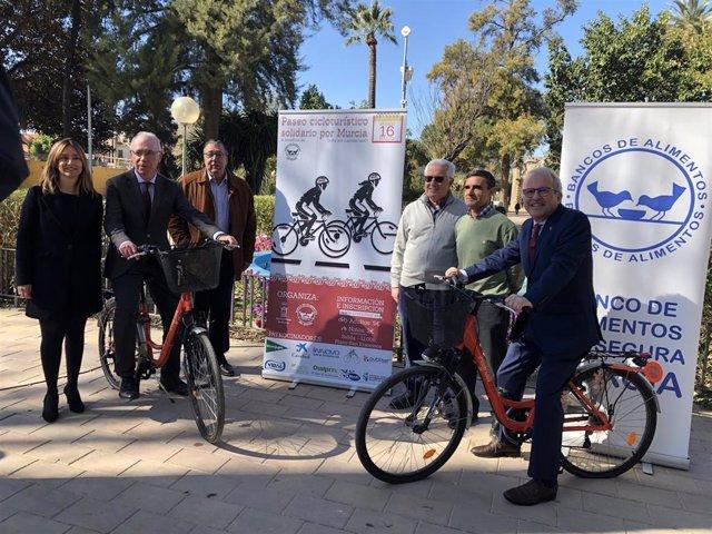 Ayuntamiento Murcia y Banco de Alimentos organizan la primera marcha cicloturist