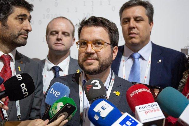 Pere Aragons, vicepresident de la Generalitat i conseller d'Economia, en la seg