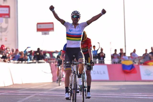 Alejandro Valverde Vuela a Abu Dabi