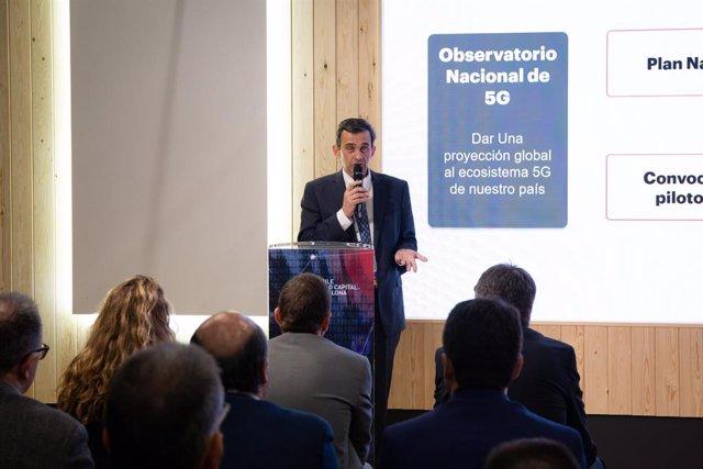 El responsable de l'Observatori Nacional 5G, Federico Ruiz, a l'MWC