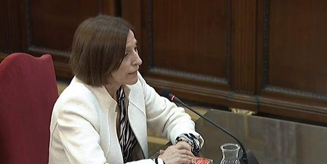 Interrogatori a Carme Forcadell en el judici pel procés