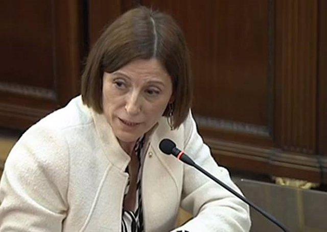 L'expresidenta del Parlament, Carme Forcadell, declara al Suprem