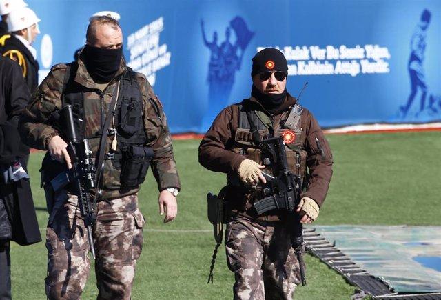 Foto de archivo de las fuerzas especiales de la Policía turca.