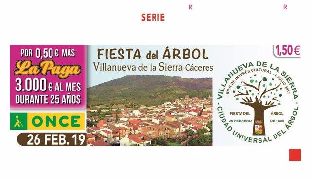 Cupón del sorteo del 26 de febrero en el que han sido agraciados vecinos de Andú