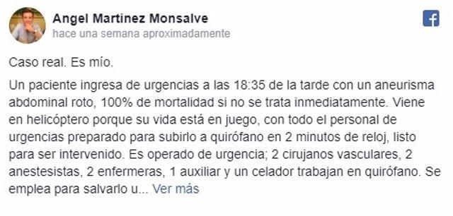 Defensa de un cirujano de la sanidad tras la queja de un paciente en Badajoz
