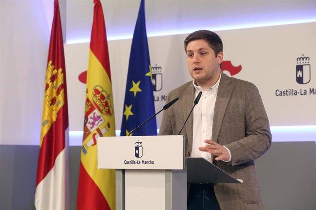 El portavoz del Gobierno regional,Nacho Hernando, en rueda de prensa