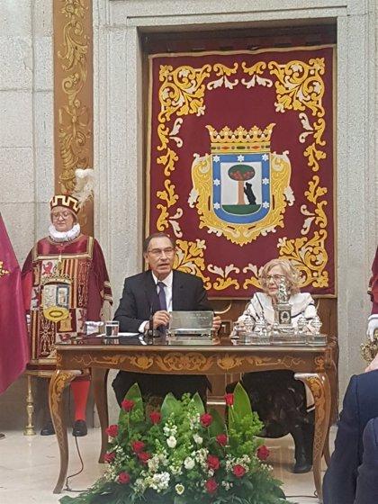 """El presidente de Perú pone como ejemplo a Madrid de desarrollo """"sin perder su identidad e historia"""""""
