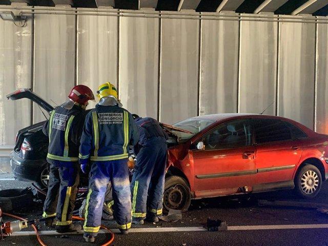 Tres personas resultan heridas al colisionar dos turismos en Las Torres de Cotil