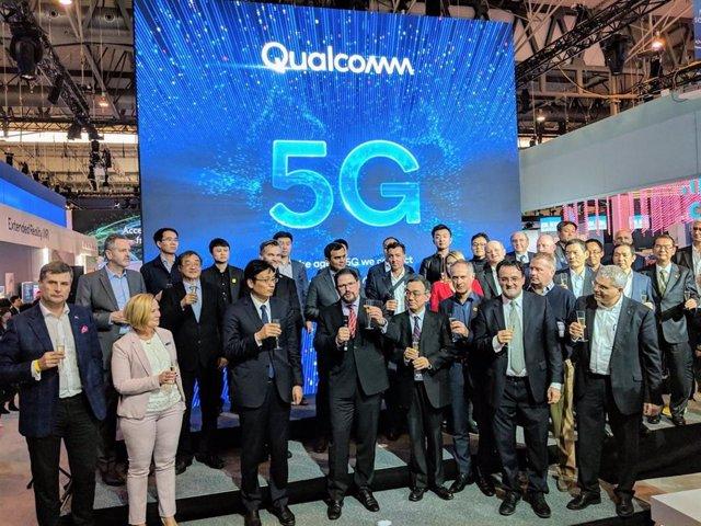 Qualcomm, protagonista del MWC al liderar la transición al 5G de los 'smartphone