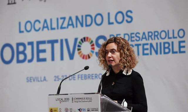 La ministra de Política Territorial, Meritxell Batet, en un encuentro sobre ODS