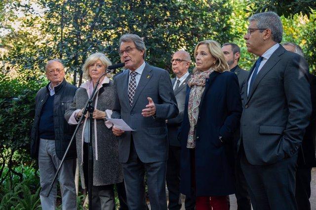 Artur Mas i altres membres de l'anterior Govern català es pronuncien sobre la se