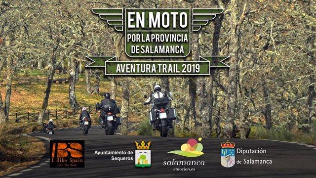 Cartel de  'Salamanca en Moto. Aventura Trail'