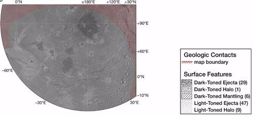 El primer mapa geológico de Caronte revela abundantes cráteres nuevos