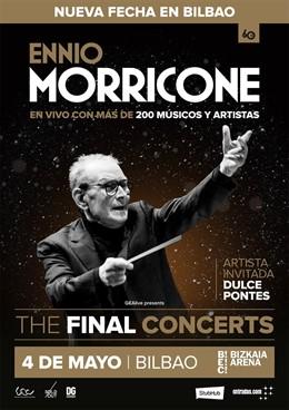Ennio Morricone actuará el 4 de mayo en el Arena Bizkaia de BEC en su gira de de