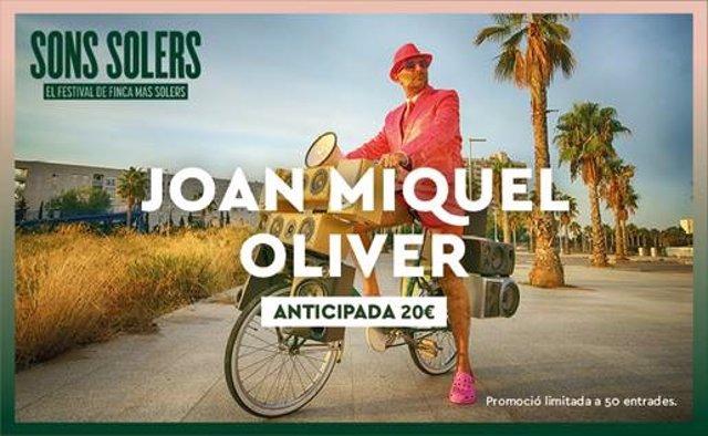 El festival Sons Solers anuncia Joan Miquel Oliver