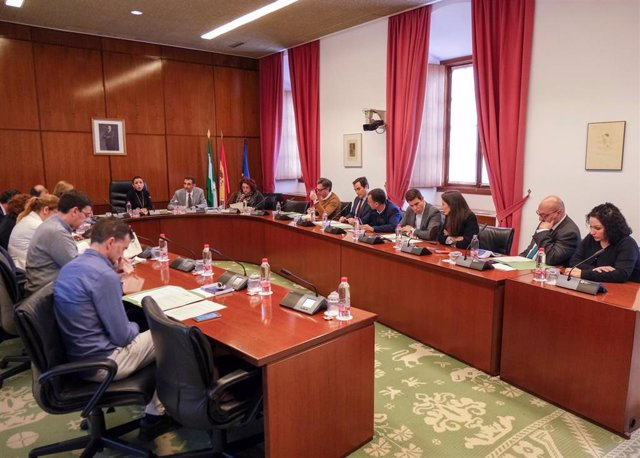 Imagen de la Junta de Portavoces, reunida este miércoles