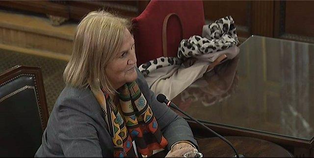 Núria de Gispert declara como testigo en el juicio al procés en el Supremo