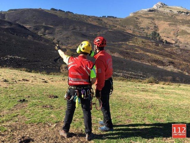 Tres incendios activos en Tresviso, Selaya y Ruesga