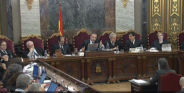 Jornada de judici del procés al Tribunal Suprem