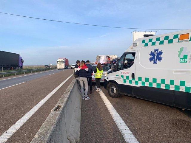 Accidente de tráfico este jueves en Badajoz