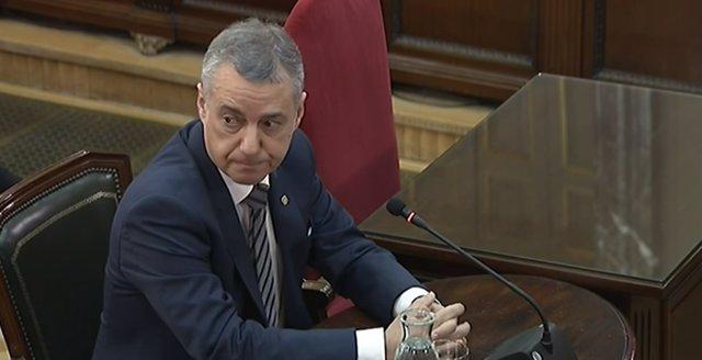 Íñigo Urkullu declara com a testimoni en el judici pel procés