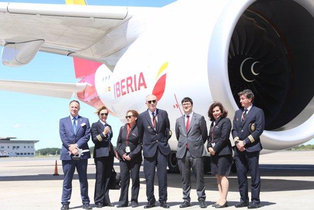 El A350-900 de Iberia llega a Argentina, primer destino en América Latina de est