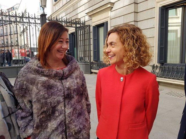 Ministra de Política Territorial y Función Pública, Meritxell Batet, y la presid