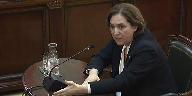 Ada Colau declara como testigo en el juicio por el 'procés'