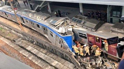Al menos nueve heridos tras producirse un choque entre dos trenes en Brasil