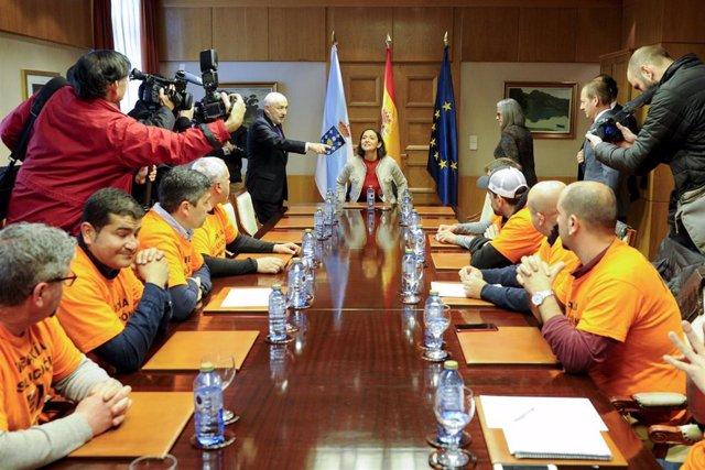 Reunión en A Coruña de la ministra de Industria, Comercio y Turismo, Reyes Marot