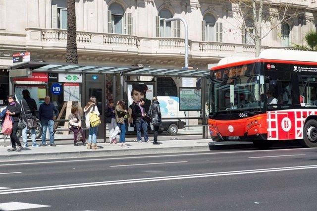 Autobús de TMB a Barcelona