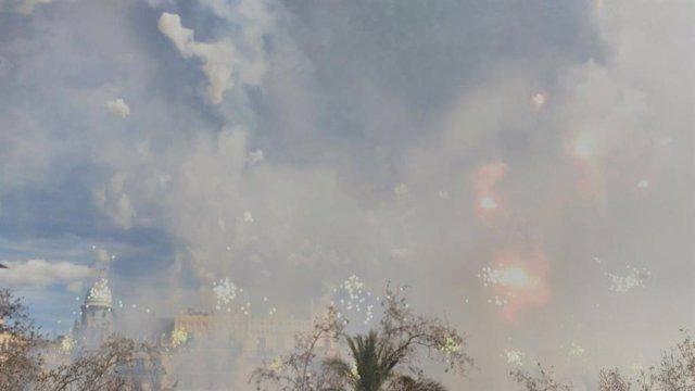 Imagen de archivo de una 'mascletà'